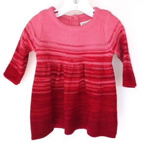 Gymboree Red and Pink Sweater Dress Sz 0-3 Months